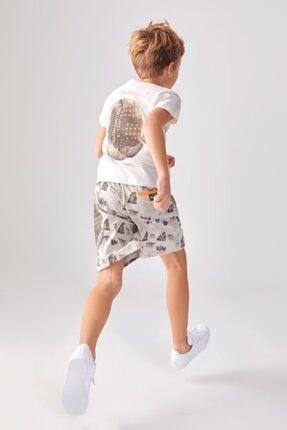 NK Erkek Çocuk Beyaz Turuncu Steps Tshirt 1