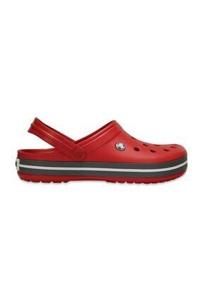 Crocs Kırmızı Unisex Crocband Kenarı Siyah Çizgili Terlik 0