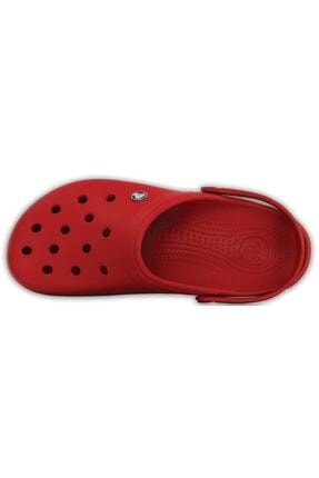 Crocs Kırmızı Unisex Crocband Kenarı Siyah Çizgili Terlik 3