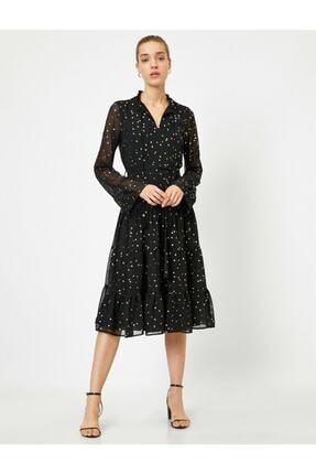 Koton Kadın Sarı Elbise 4