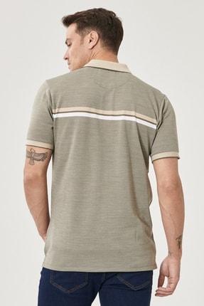 Altınyıldız Classics Erkek Haki Regular Fit Bol Kesim Polo Yaka Cepli Tişört 4