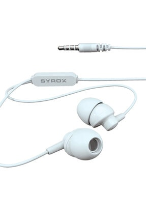 Syrox Beyaz Kablolu Kulak Içi Kulaklık 1