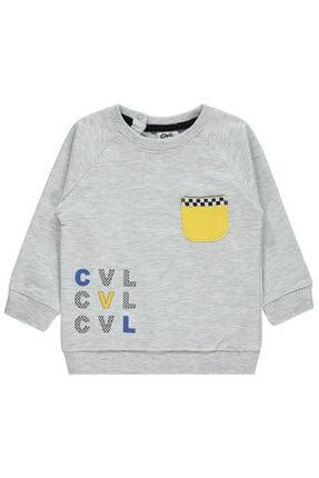 Erkek Bebek Gri Sweatshirt 91E57C355Y11
