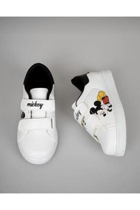 Lindelöf Unisex Çocuk Mickey Beyaz Cırtlı Günlük Smeaker 2