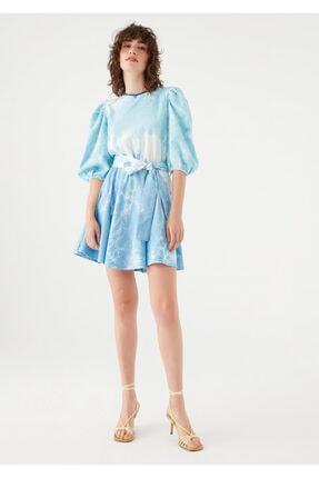 Mavi Kadın terranean Nazar Boncuğu Detaylı Batik Elbise 131129-35158 2