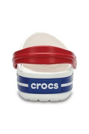 Crocs Beyaz Unisex Crocband Kenarı Lacivert Beyaz Çizgili Terlik 3