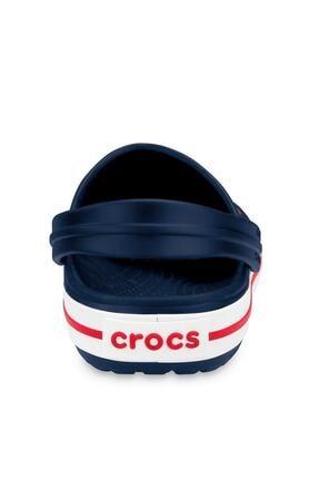Crocs Lacivert Unisex Crocband Kenarı Kırmızı Beyaz Çizgili Terlik 3