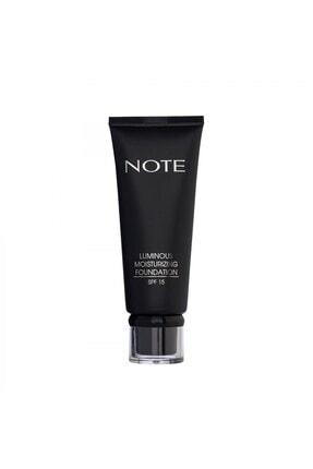 Note Cosmetics Luminous Moisturizing Fondöten 05 Honey Beige 2