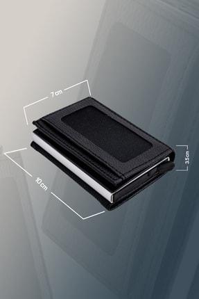 Sadico Siyah Cüzdan - Erkek Otomatik Mekanizmalı Kartlık - Deri Cüzdan - Toplam 9 Adet Kart Kapasiteli 2