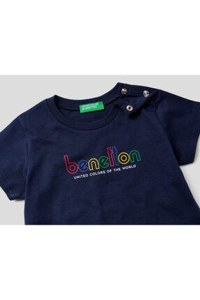 Benetton 012 Benetton Yazılı Tshirt 1