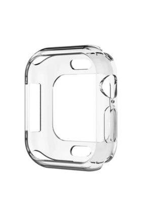 Apple Şeffaf Microsonic Watch Se 44mm 360 Uyumlu Full Round Soft Silicone  Kılıf 1