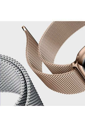 Apple Rose Gold Microsonic Watch 5 44mm Milanese Loop Version 3 Kordon 1