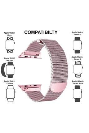 Apple Rose Gold Microsonic Watch 5 44mm Milanese Loop Version 3 Kordon 3