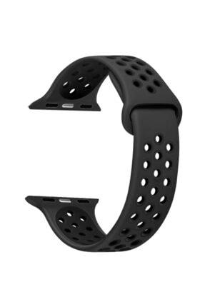 Apple Siyah Microsonic Watch Series 1 42mm Rainbow Sport Band Kordon 0
