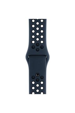Apple Siyah Microsonic Watch Series 1 42mm Rainbow Sport Band Kordon 4