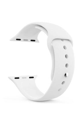 Apple Microsonic Watch Series 3 38mm Silikon Beyaz Kordon 1