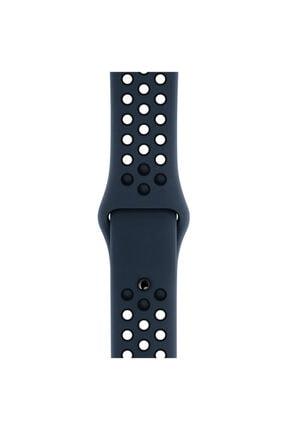 Apple Microsonic Watch Series 6 44mm Rainbow Sport Band Kordon Siyah Kırmızı 4