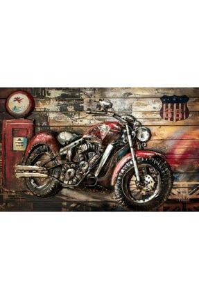 3 Boyutlu American Kırmızı Vintage Motor Duvar Kağıdı YB10247