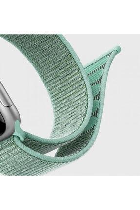 Apple Microsonic Watch Series 3 38mm Uyumlu Hasırlı Kordon Woven Sport Loop Tahoe Blue 3