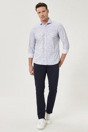 Altınyıldız Classics Erkek Lacivert Kanvas Slim Fit Dar Kesim %100 Koton 5 Cep Pantolon 1