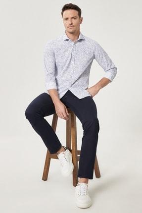 Altınyıldız Classics Erkek Lacivert Kanvas Slim Fit Dar Kesim %100 Koton 5 Cep Pantolon 2