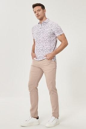 Altınyıldız Classics Erkek Bej Kanvas Slim Fit Dar Kesim 5 Cep Pantolon 2