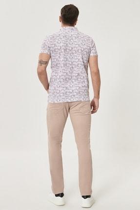 Altınyıldız Classics Erkek Bej Kanvas Slim Fit Dar Kesim 5 Cep Pantolon 4
