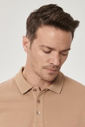 Altınyıldız Classics Erkek Vizon Polo Yaka Cepsiz Slim Fit Dar Kesim %100 Koton Düz Tişört 3