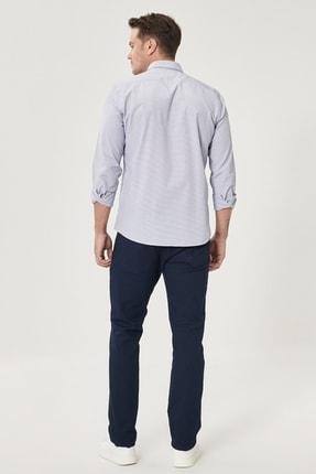 Altınyıldız Classics Erkek Lacivert Kanvas Slim Fit Dar Kesim 5 Cep Pantolon 4
