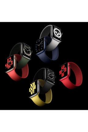 Apple Microsonic Watch Series 6 40mm Kordon, (medium Size, 145mm) New Solo Loop Siyah 3