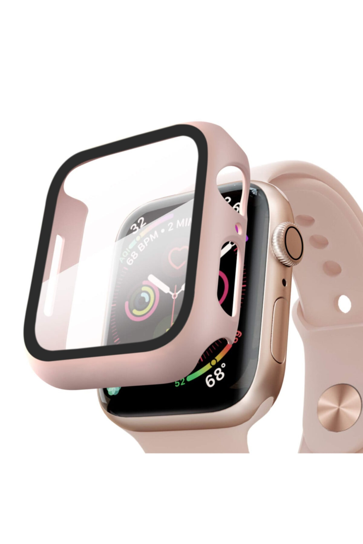 Microsonic Watch Se 40mm Kılıf Matte Premium Slim Watchband Rose Gold