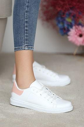 Pembe Potin Kadın Beyaz Pudra Ayakkabı 1
