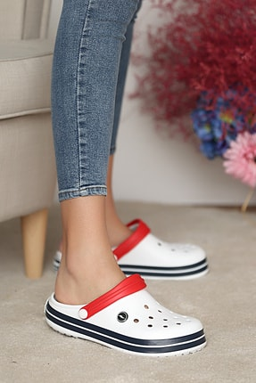 Pembe Potin Unisex Beyazlacivert Sandalet 1