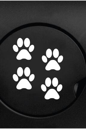 Dijitalya Patiler 4 Adet Sticker Yapıştırma | Kaput - Bagaj - Cam - Leptop | Siyah 0