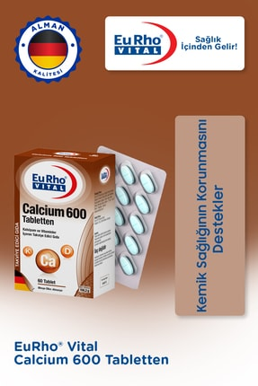Eurho Vital Calcium 600 Mg 60 Tablet 0