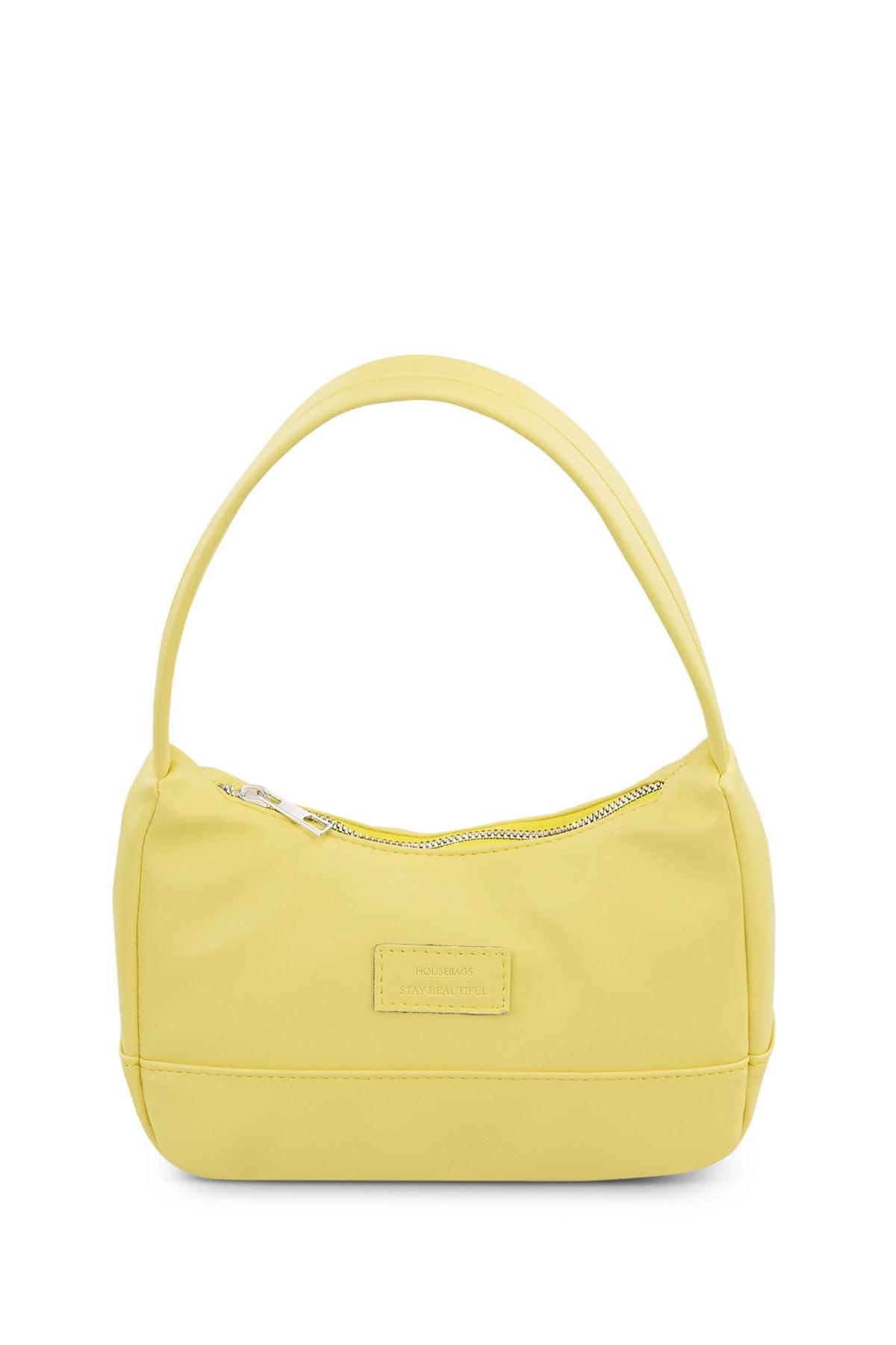 Kadın Sarı Baguette Çanta 197