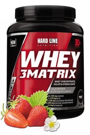 Hardline Whey 3 Matrix Çilekli 908 gr Protein Tozu 0