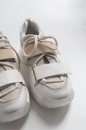 LuviShoes Beyaz Rugan Spor Ayakkabı 65140 1