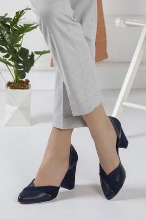 Lacivert Topuklu Ayakkabı 2984589
