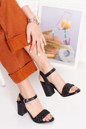 derithy Kadın Siyah Thames Topuklu Ayakkabı--hls0600 1