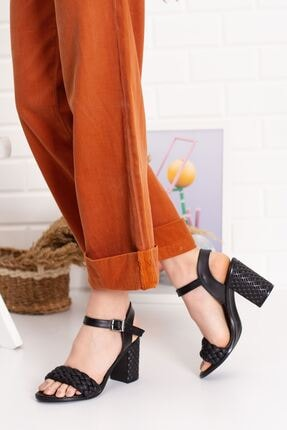 derithy Kadın Siyah Thames Topuklu Ayakkabı--hls0600 2