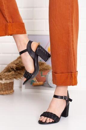 derithy Kadın Siyah Thames Topuklu Ayakkabı--hls0600 3
