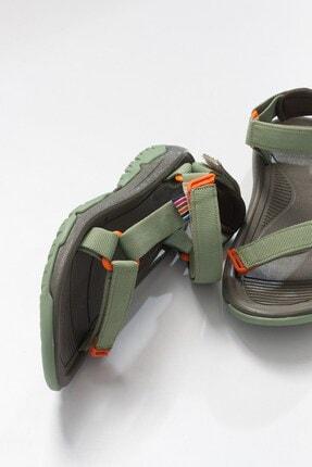 LuviShoes Kadın Haki Tekstil  Sandalet 3