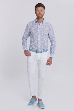 Hemington Erkek Beyaz Slim Fit 5 Cep Pantolon 1