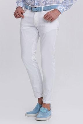 Hemington Erkek Beyaz Slim Fit 5 Cep Pantolon 3