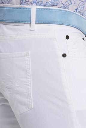 Hemington Erkek Beyaz Slim Fit 5 Cep Pantolon 4