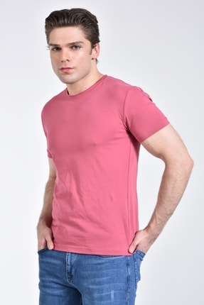 Rodi Jeans Rodi Rd21ye278610 Pembe Erkek Bisiklet Yaka Basic T-shirt 1