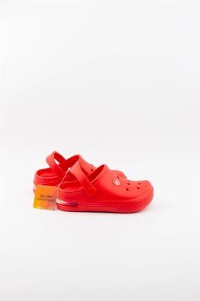 Akınalbella Unisex Çocuk Kırmızı  Işıklı Terlik 3