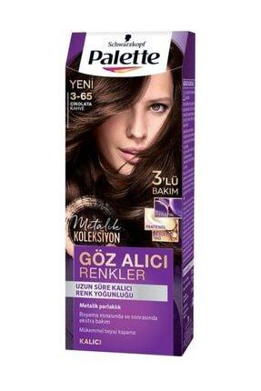 Palette Göz Alıcı Renkler Çikolata Kahve 3-65 Saç Boyası 4