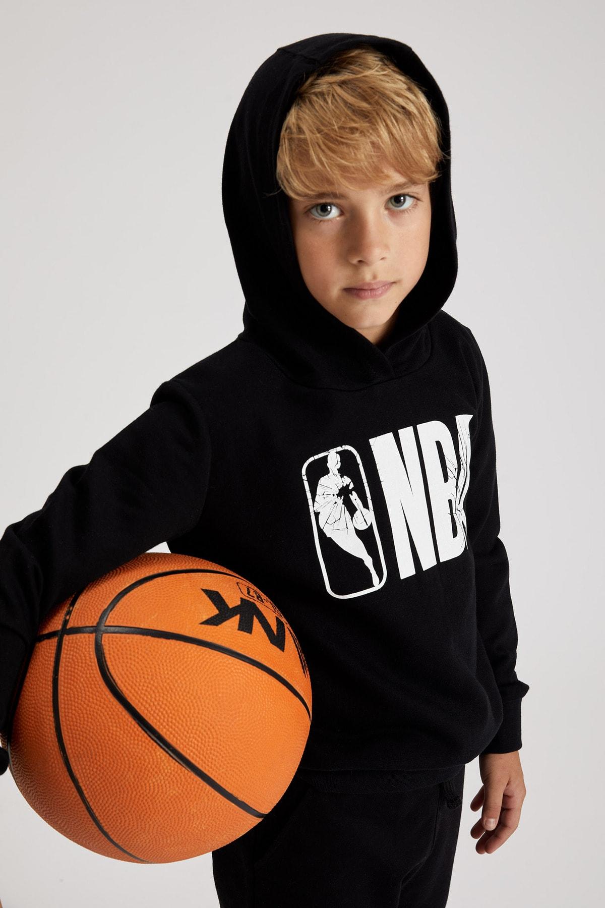 Defacto Erkek Çocuk Siyah Nba Lisanslı Sweatshirt 0